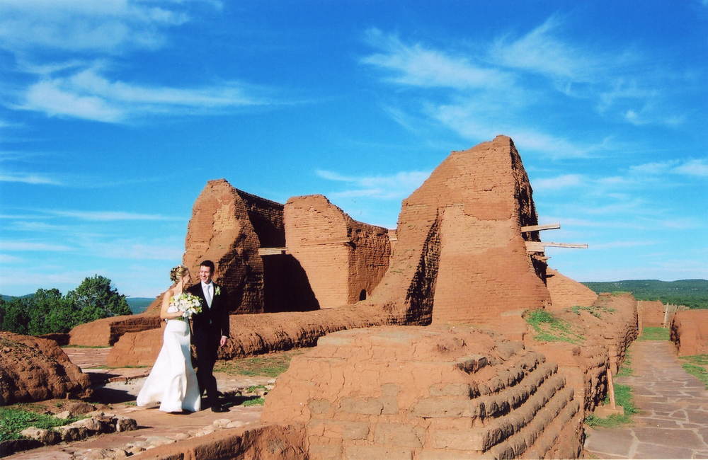 Melanie West wedding photography, Pecos National Monument